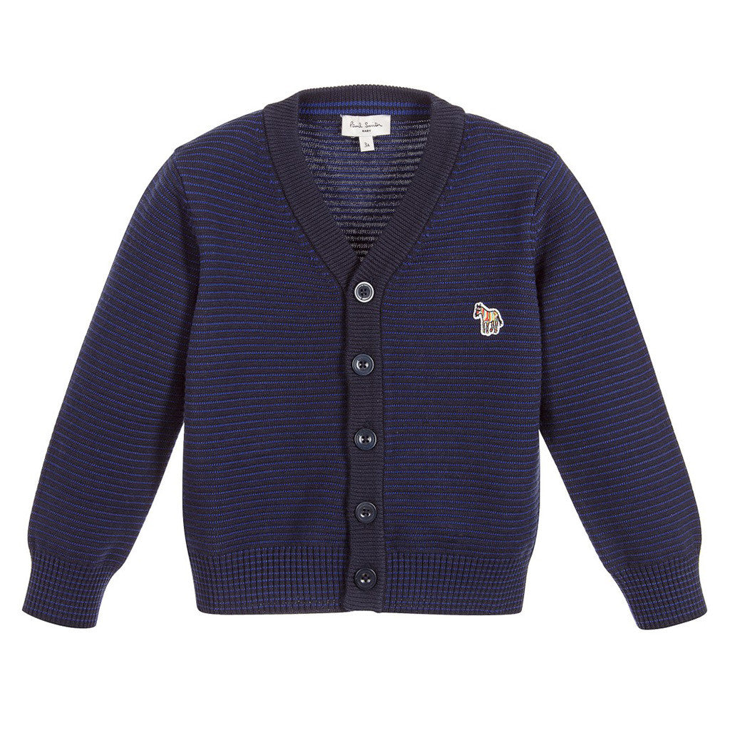 Baby Boys Blue Knitted Cardigan