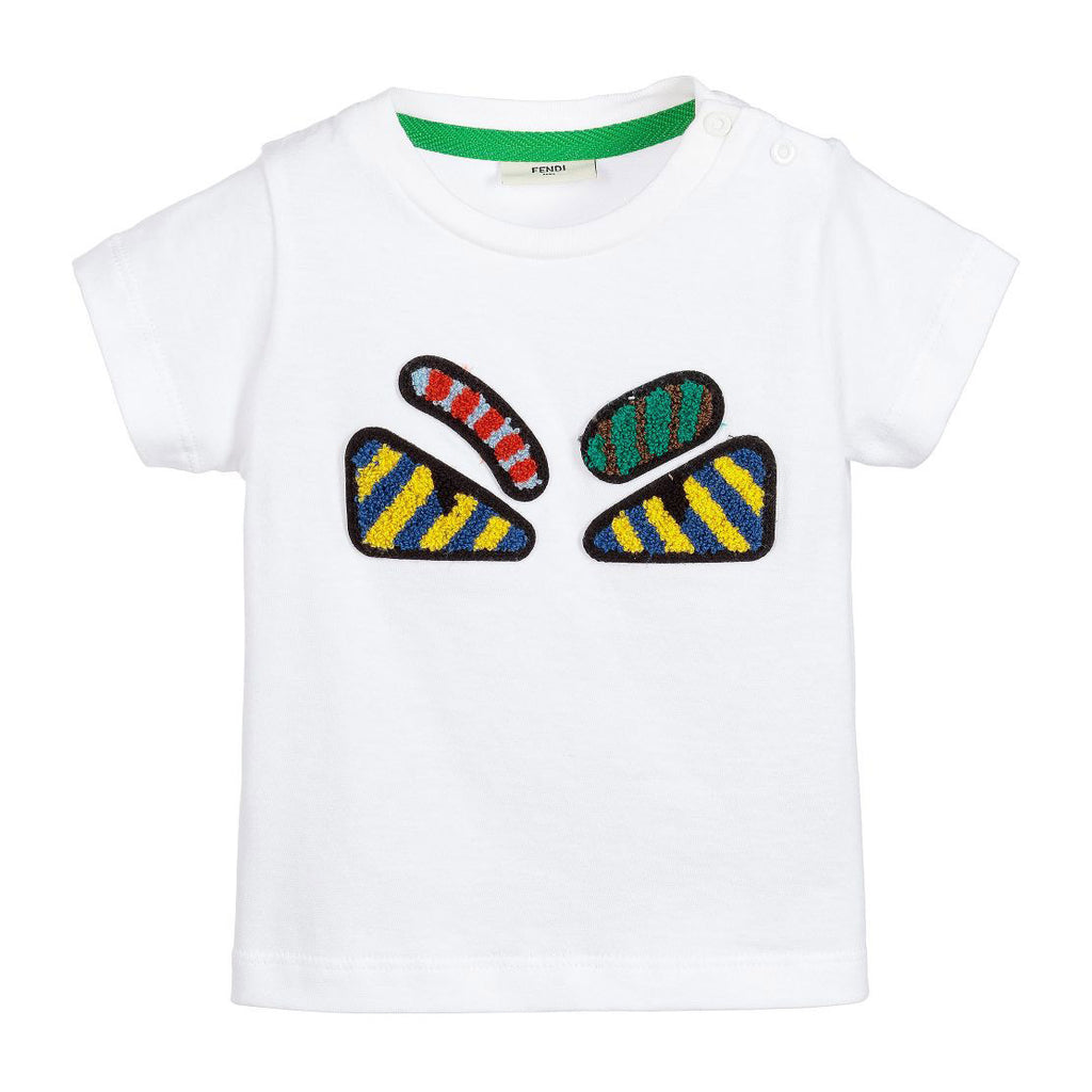 96655b5d266 Baby White Embroidered Monster Eye T-shirt – Occasion Kids