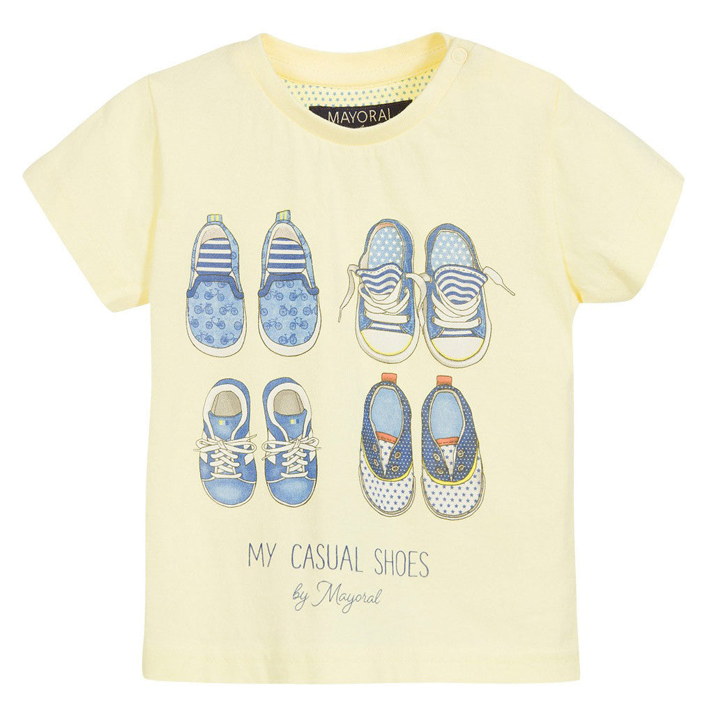 Baby Boys Yellow Shoes T-Shirt