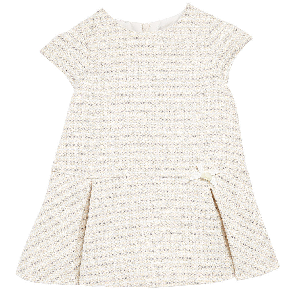 Baby Chic Robe Dress White w/ Patterns - Occasion Kids