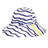 Baby Girls Blue Wave Sun Hat
