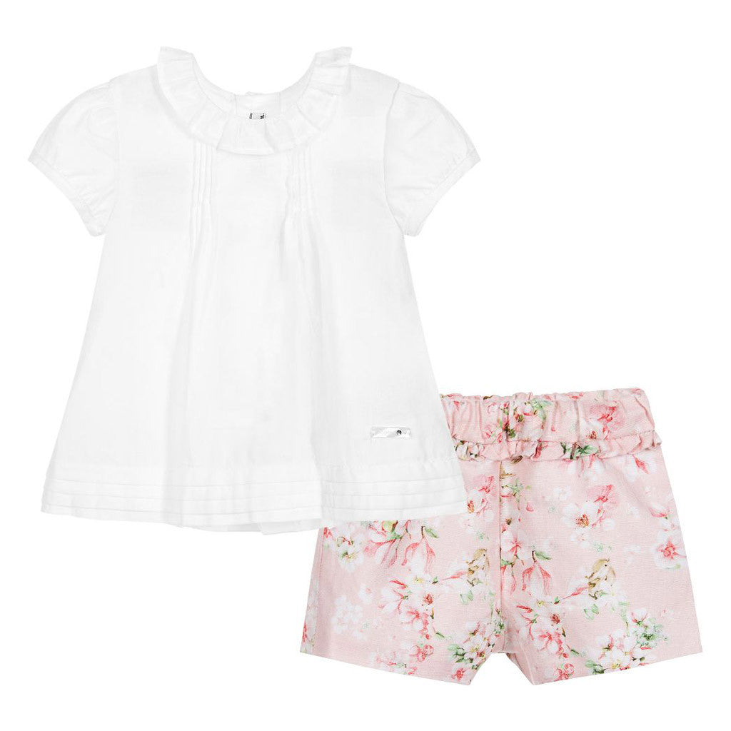 Baby Girl Shorts with Ruffled Blouse
