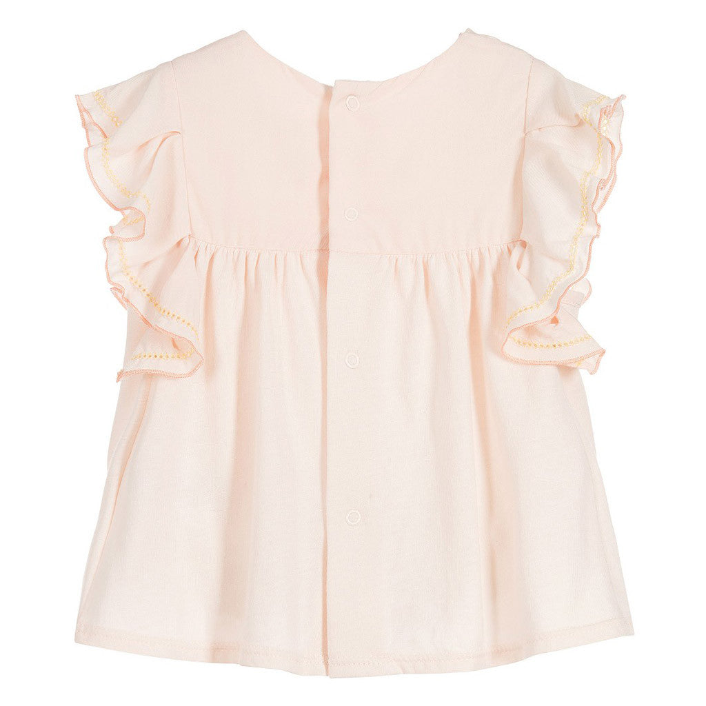 Baby Girls Pink Jersey Top