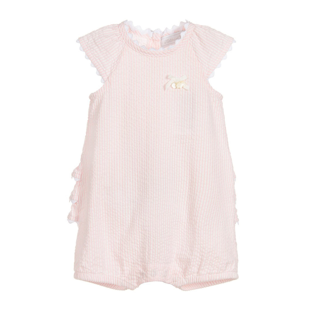 07348d910bf Baby Girl Pink Stripe Ruffle Bottom Romper – Occasion Kids