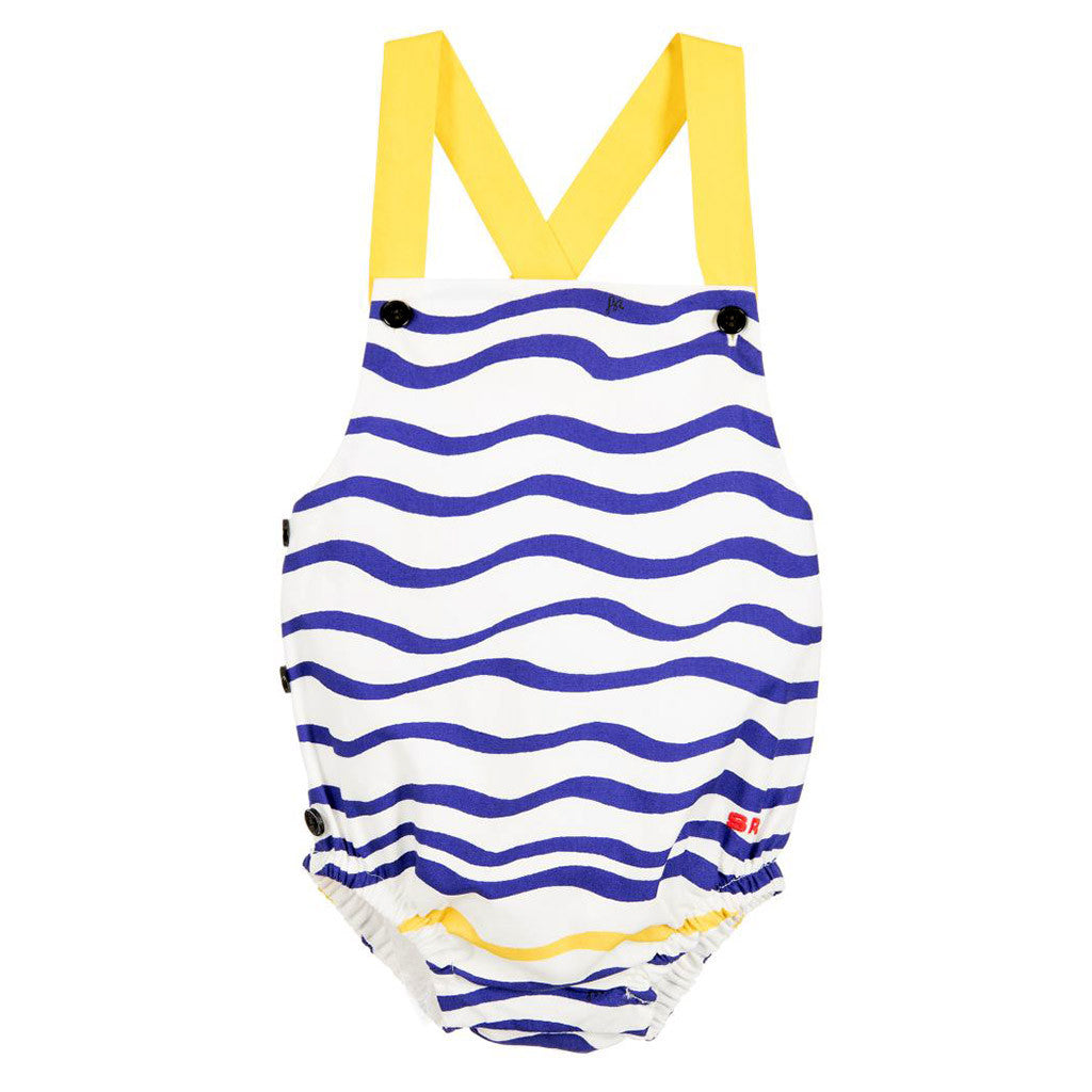 Baby Girls Striped Dungarees