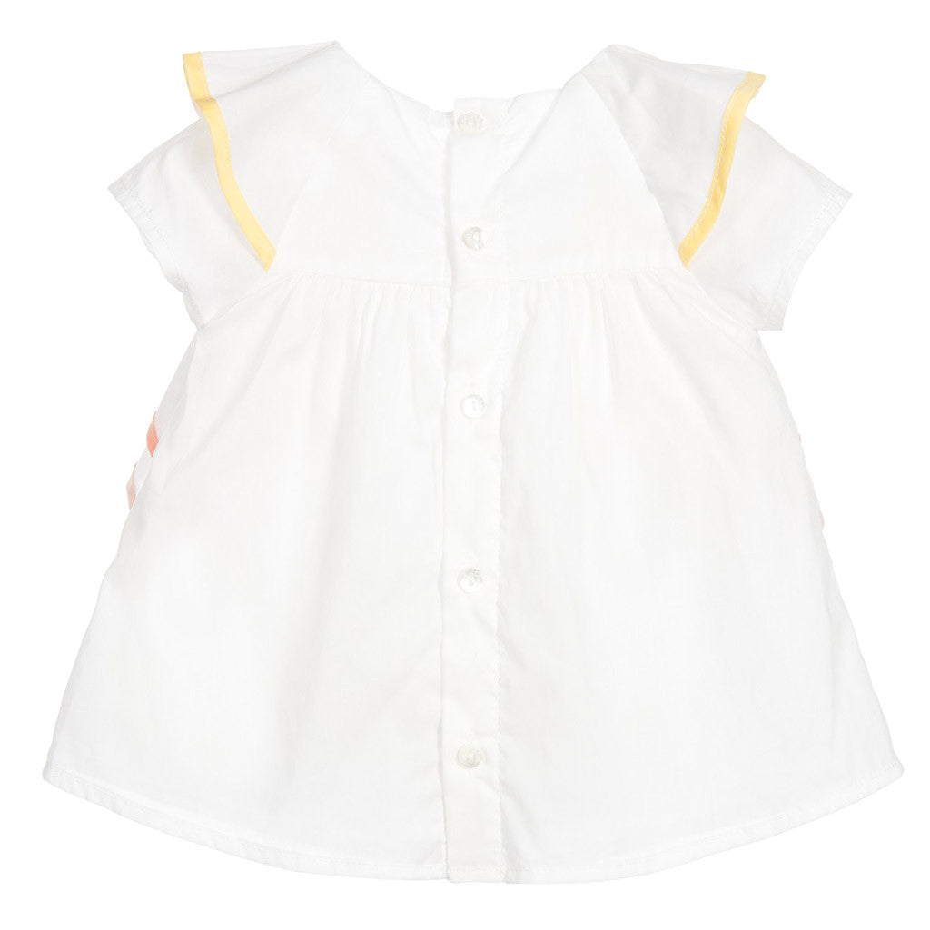 Baby Girls White Cotton Blouse