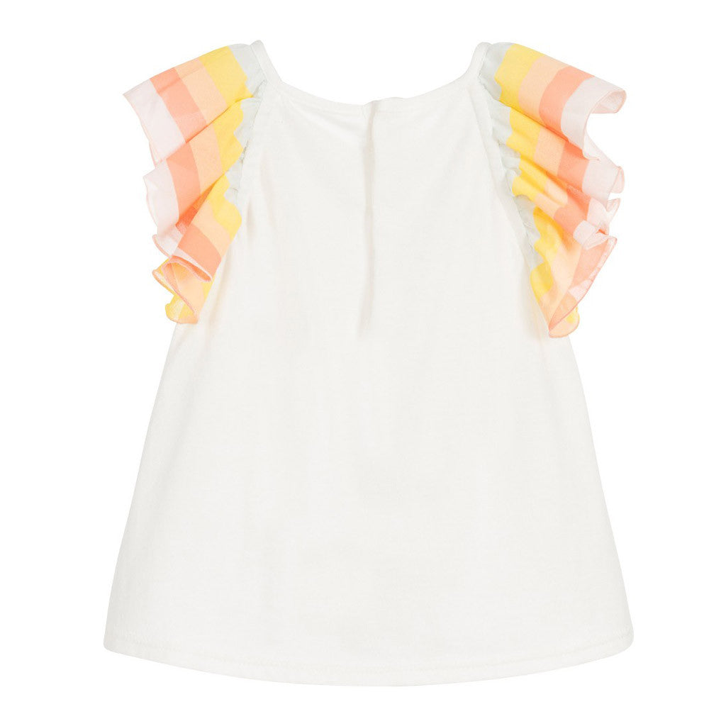 Baby White Frill Sleeve Top