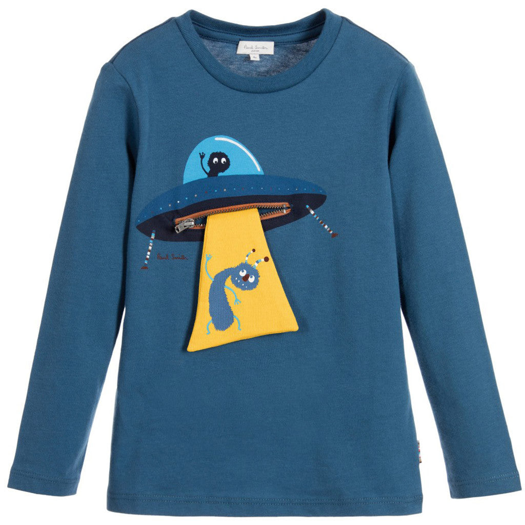 Blue Alien 'Mint' Cotton Jersey Top - Occasion Kids