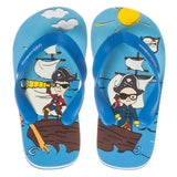 Blue Pirate Flip-Flops