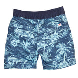 Blue Tropical Print Boys Swim Shorts