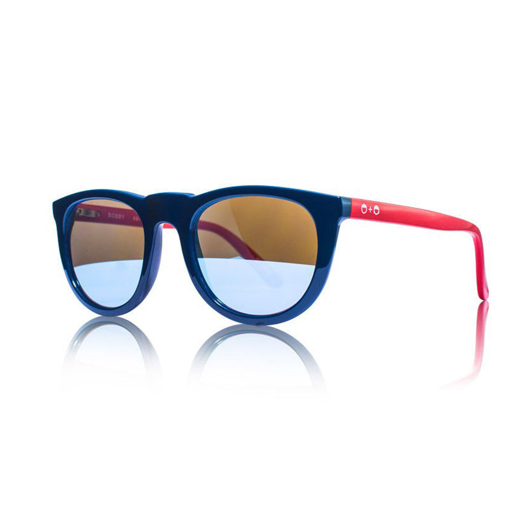 Bobby Deux Navy & Red Sunglasses