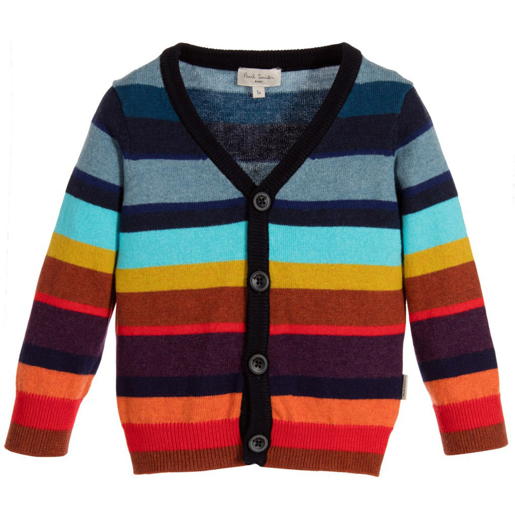 Boys Colourful Cashmere Cardigan Occasion Kids