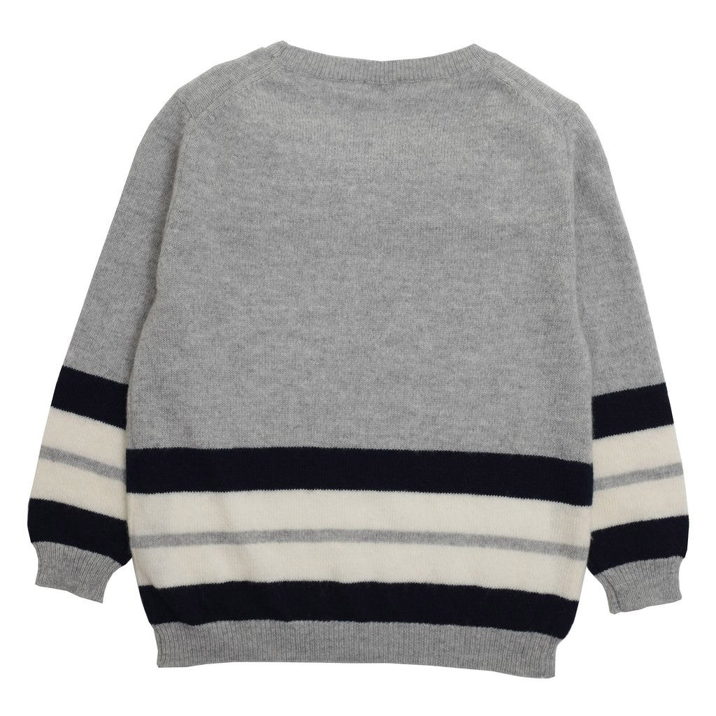Boys Gray Sweater - Occasion Kids