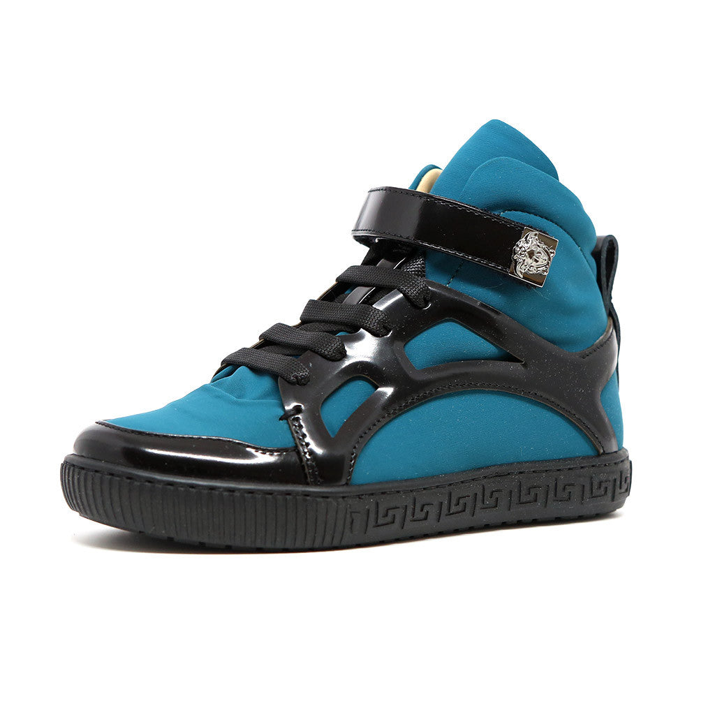 Boys High Top Velcro Sneakers with Medusa - Occasion Kids