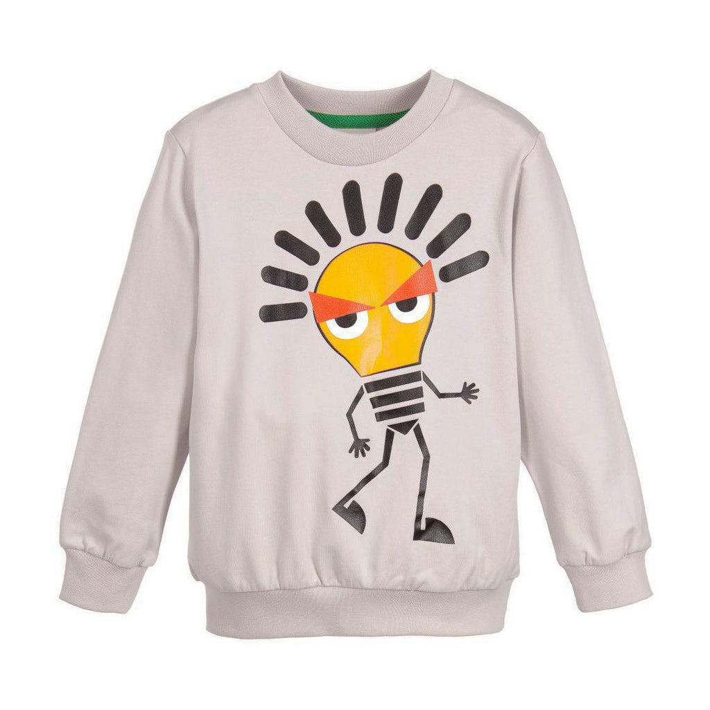Boys Gray Lightbulb Sweatshirt
