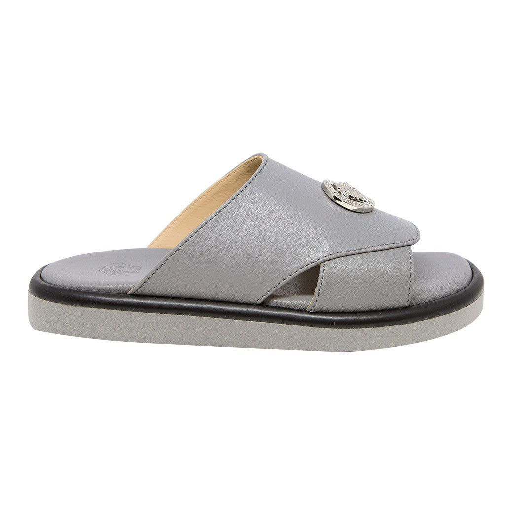 Boys Medusa Logo Gray Sandals