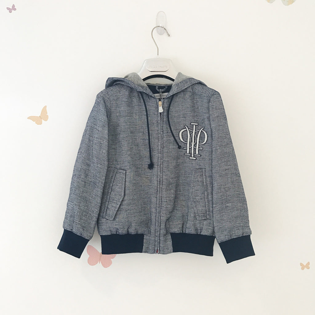 Boys Blue Zip-Up Hoodie