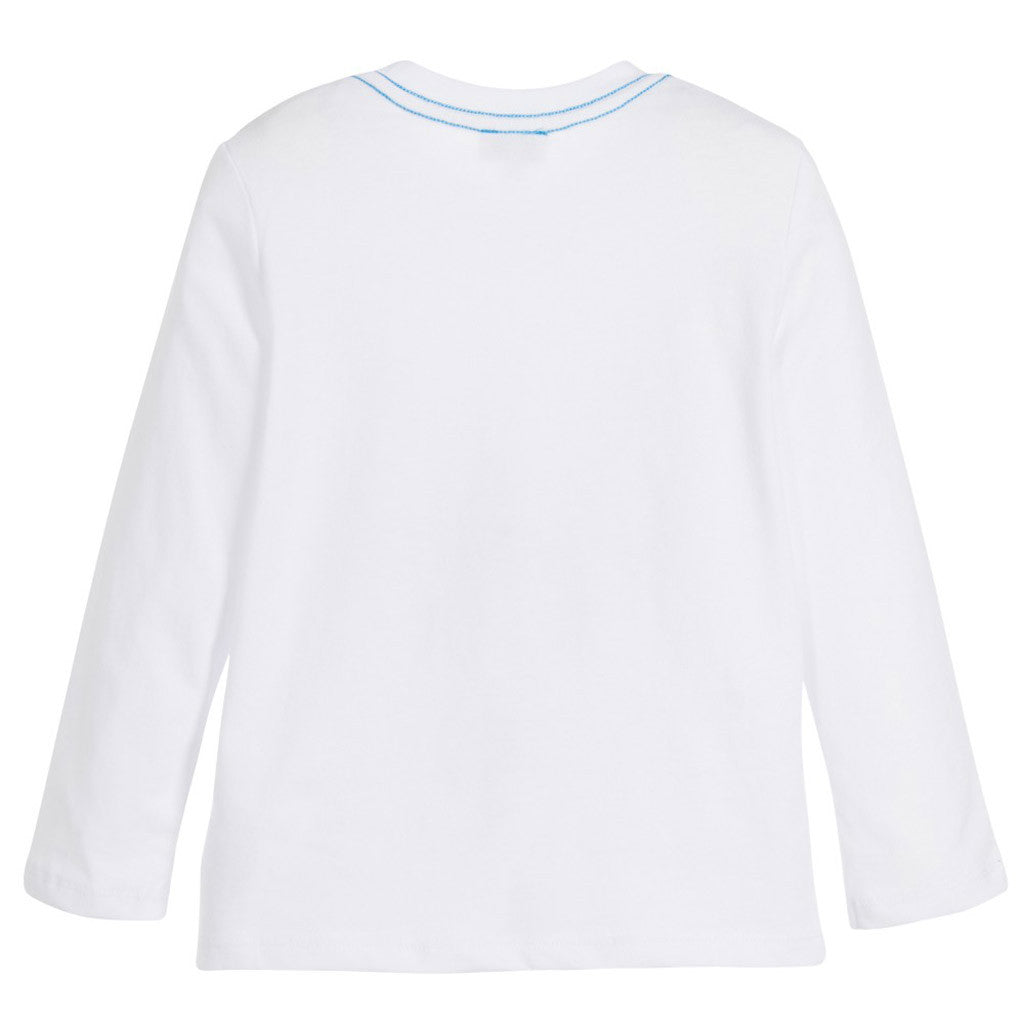 Boys White Cotton Jersey Top