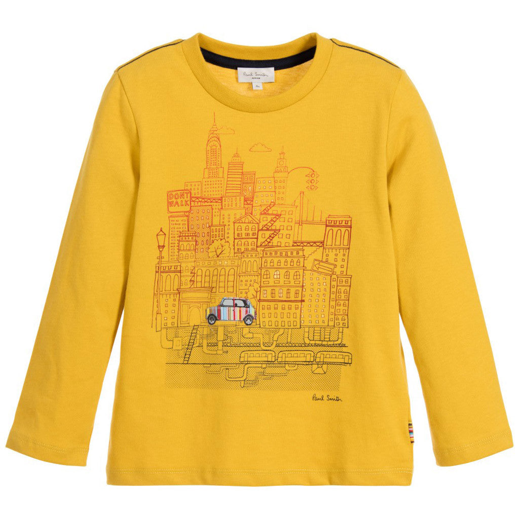Boys Yellow 'Marvel' Cotton Jersey Top