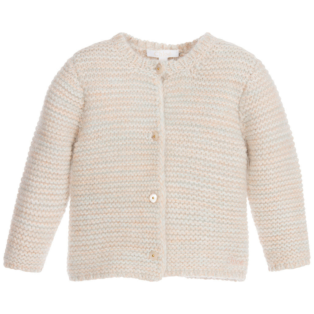 Chunky Knit Style Cardigan Sand