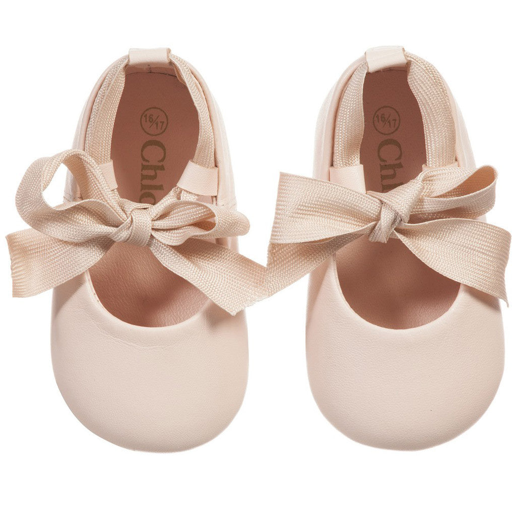Classic Chic Leather Ballerinas Pink