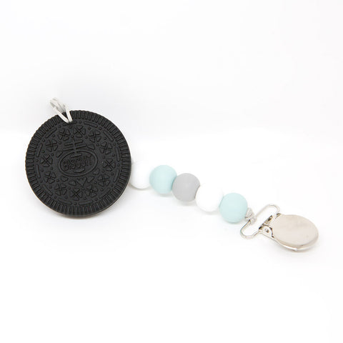 Lolli Soother Holder - Black and Blue