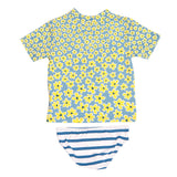 Daisy and Stripe Print Swim Set