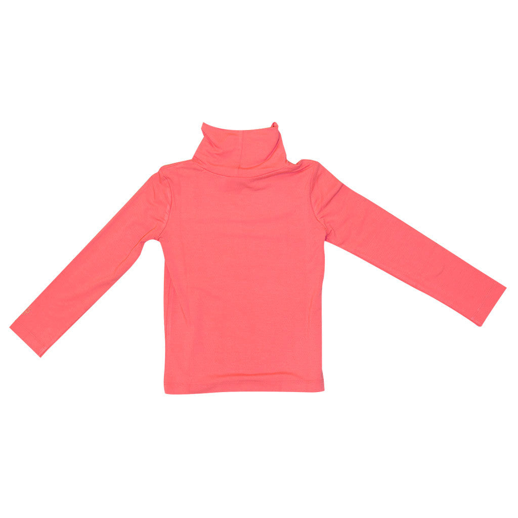 Girls Coral Soft Turtle Neck Top
