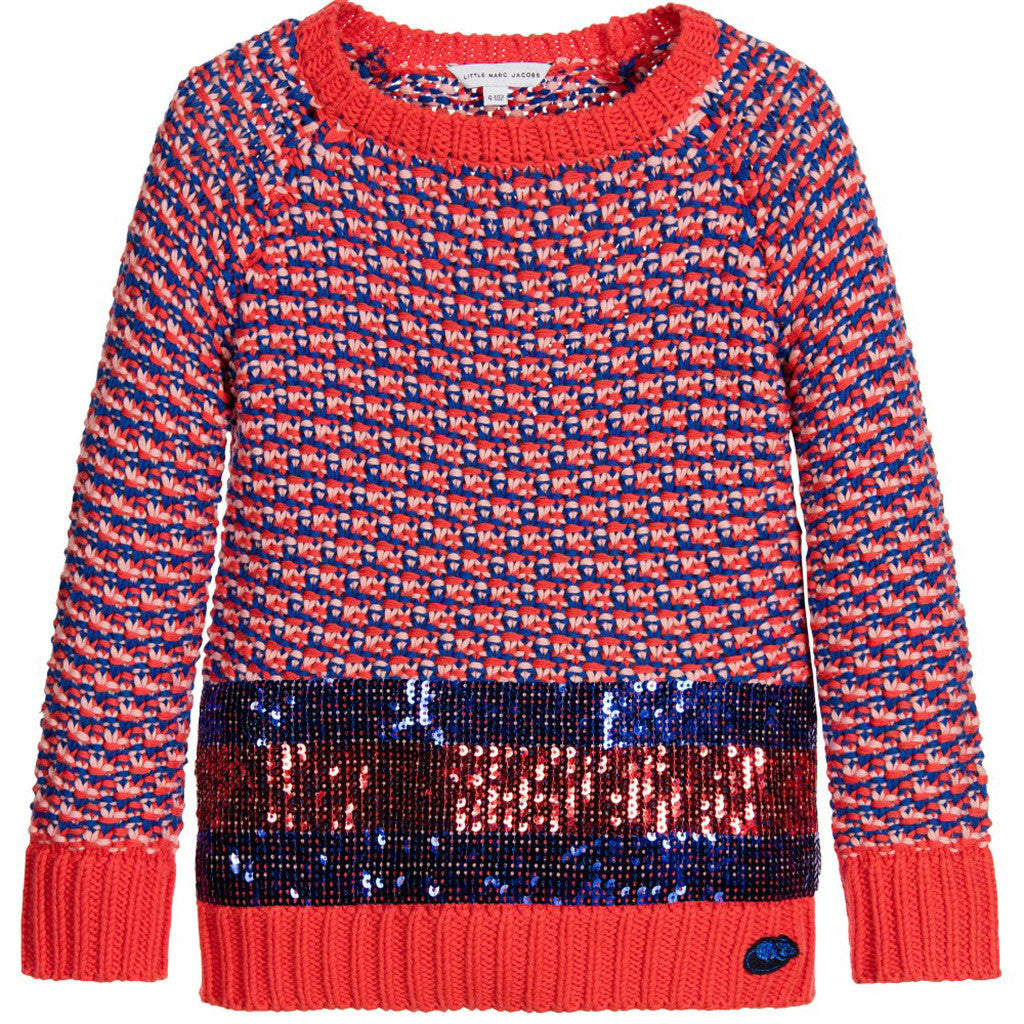 Girls Knitted Sweater with Sequins