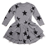 Gray Layered Star Dress