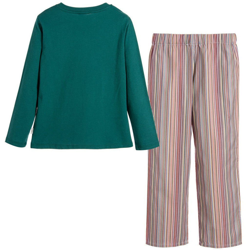 Green & Striped 'Mafar' Pajamas