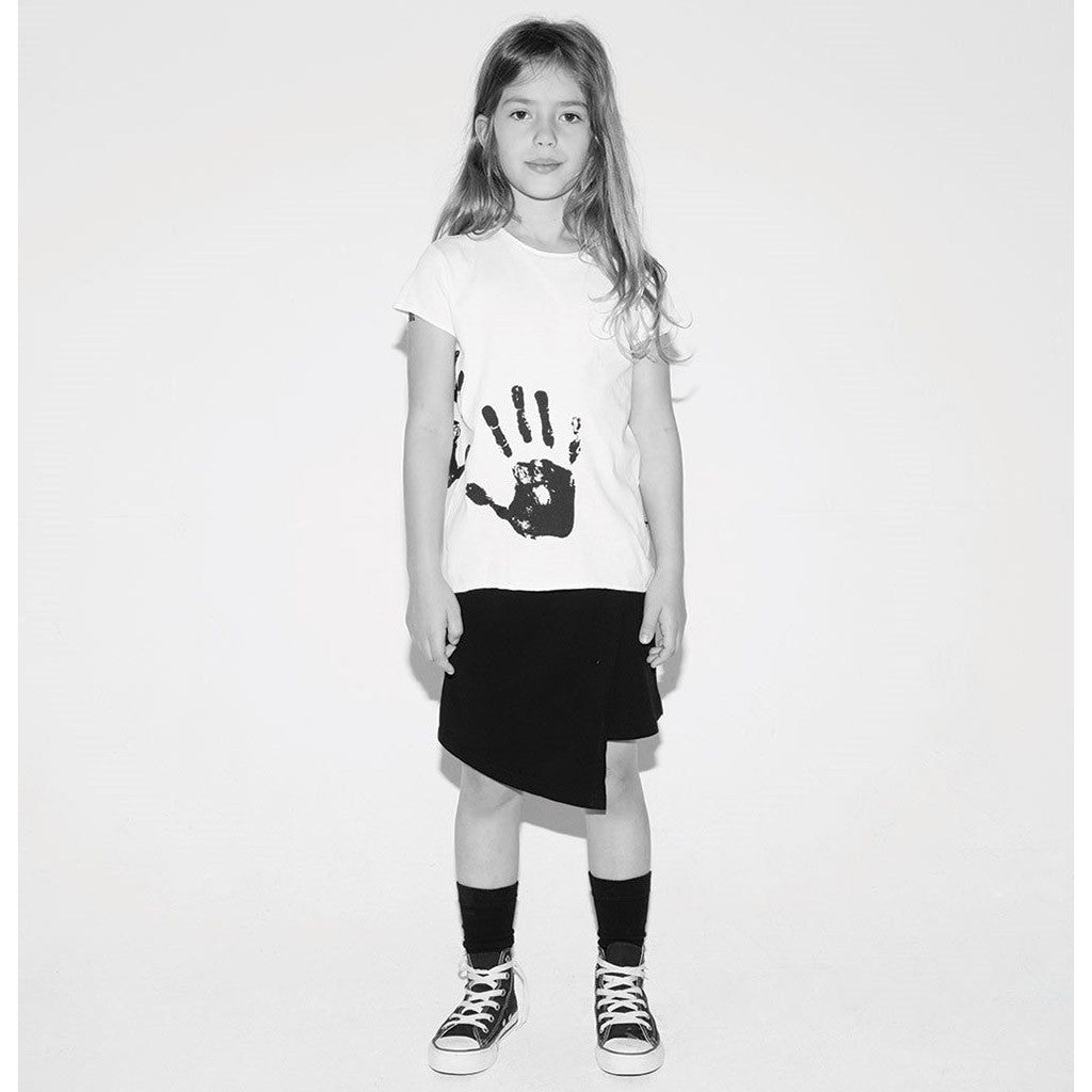 Hand Print Raw White T-shirt