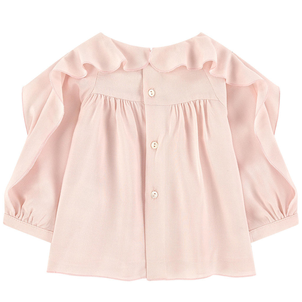 Lightweight Blouse with Flounces
