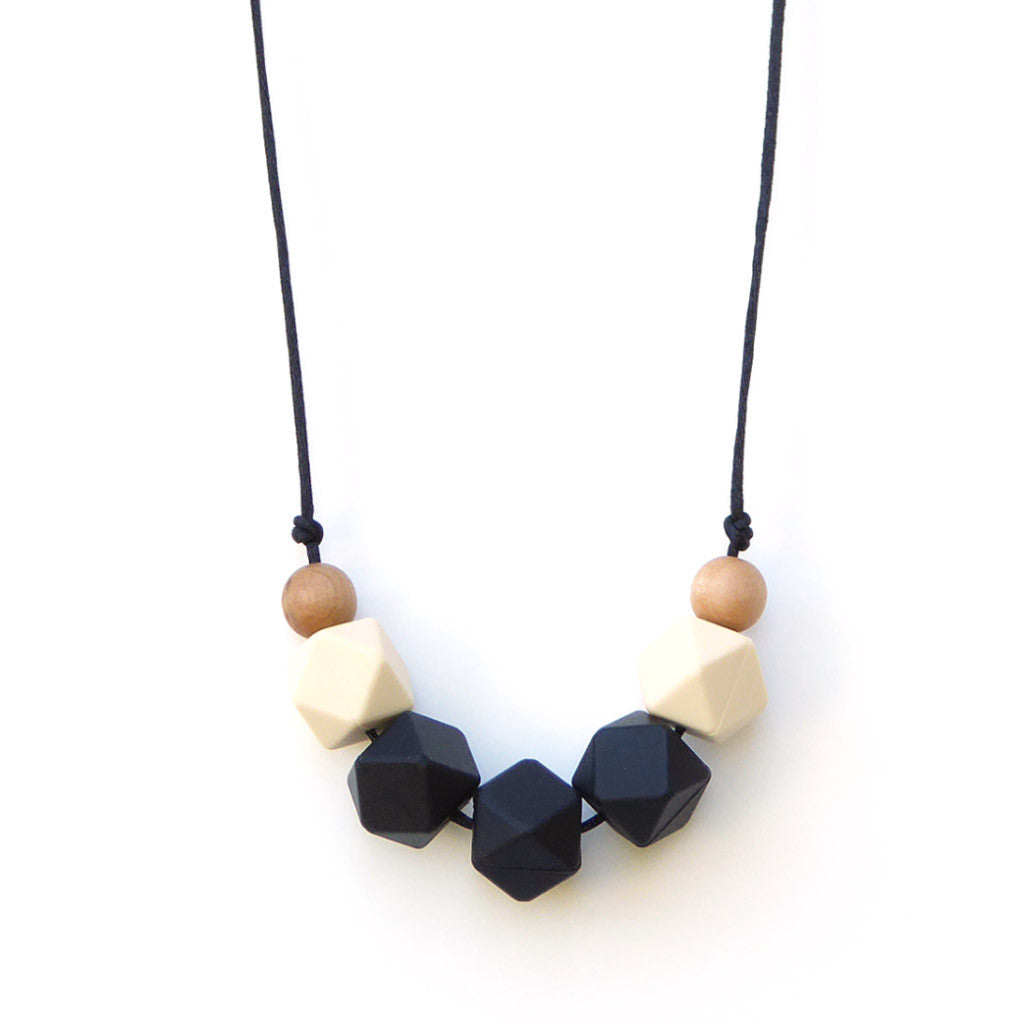 Lollia Wood + Silicone Teething Necklace - Black
