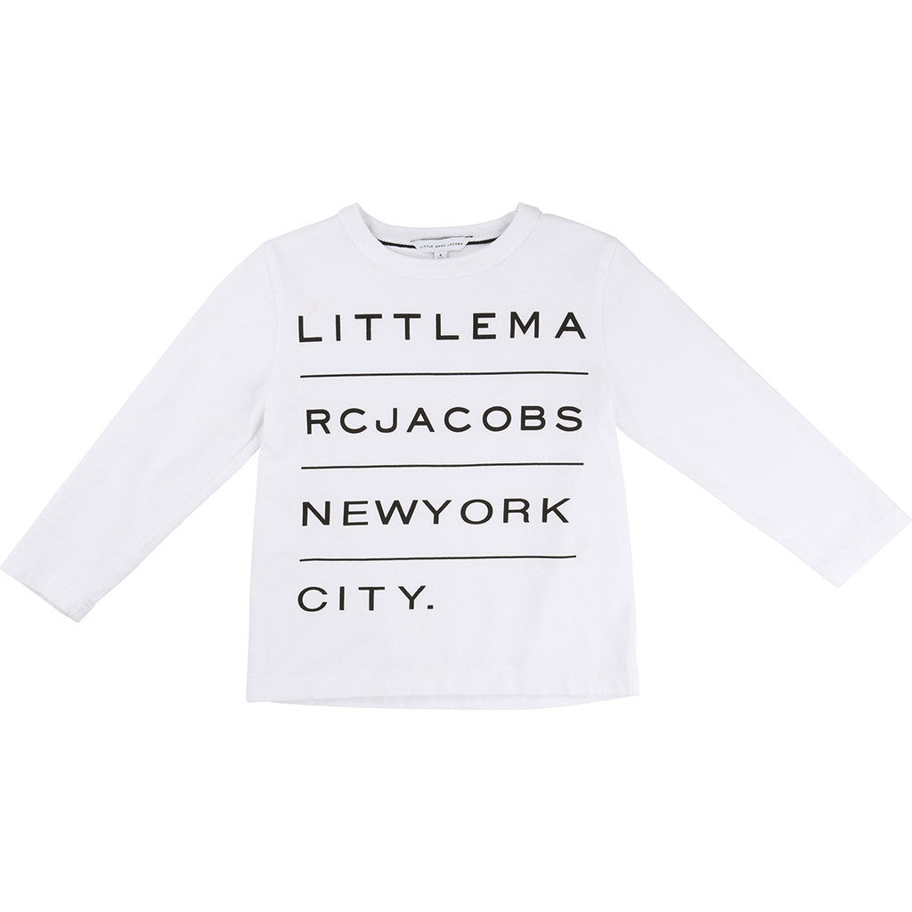Long Sleeve Essential Little Marc Jacobs Tee White