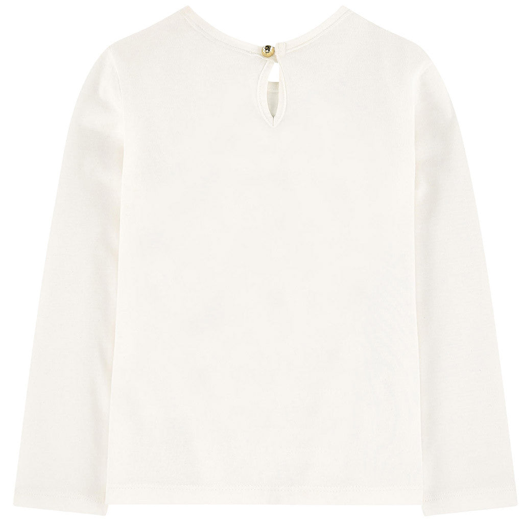 Long Sleeves Cute Little Marc Jacobs Tee Shirt White
