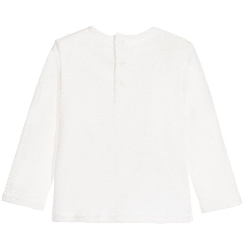 Long Sleeves Jersey Essential Chloe T-Shirt White