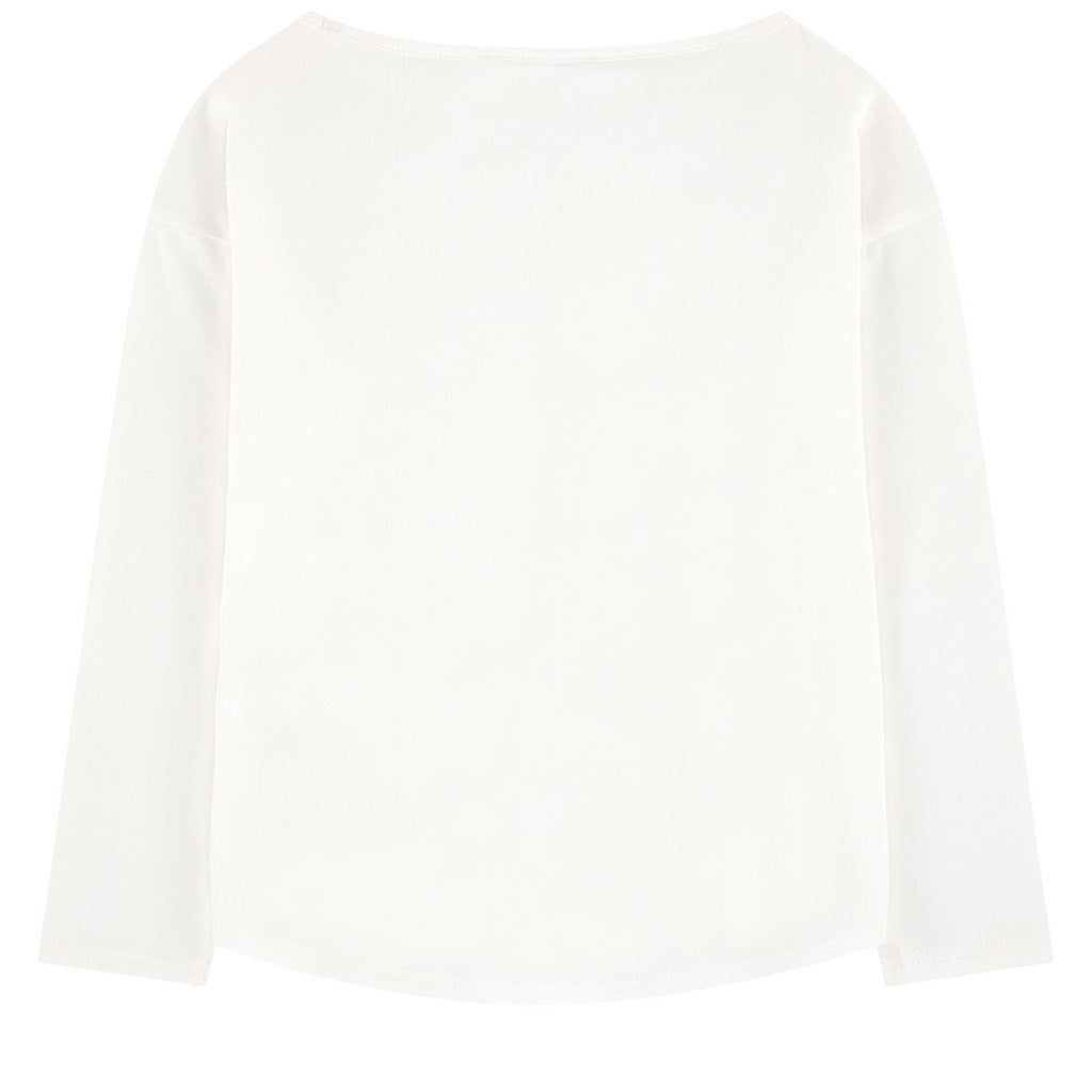 Long Sleeves Miss Marc Tee Shirt White