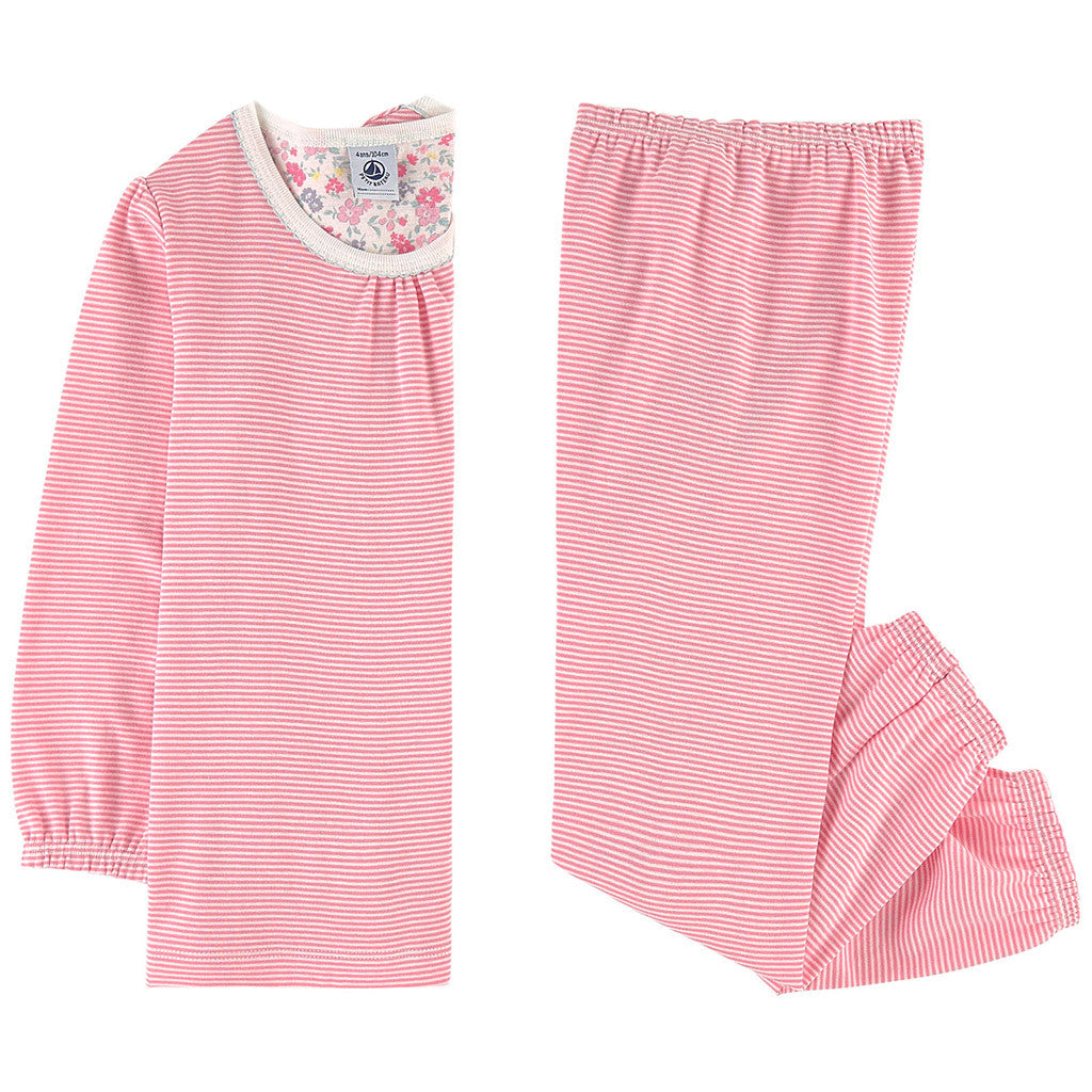 Loungewear Striped Long Sleeve Top and Pants Pink