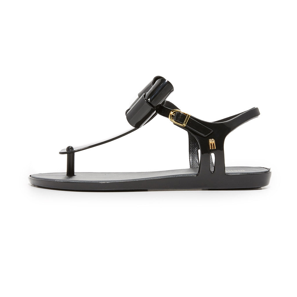 Melissa Solar Sandal in Black