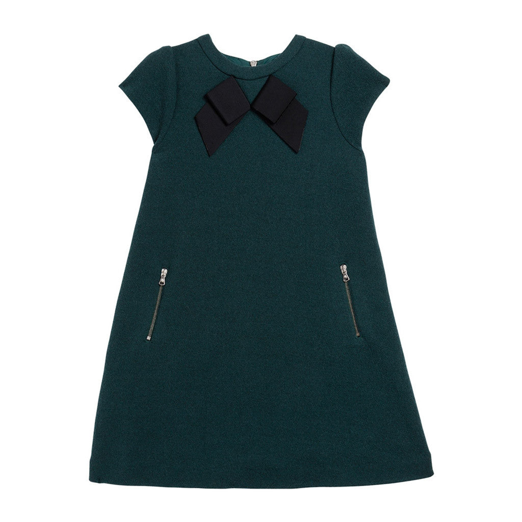 Milano Wool Dress with Bow