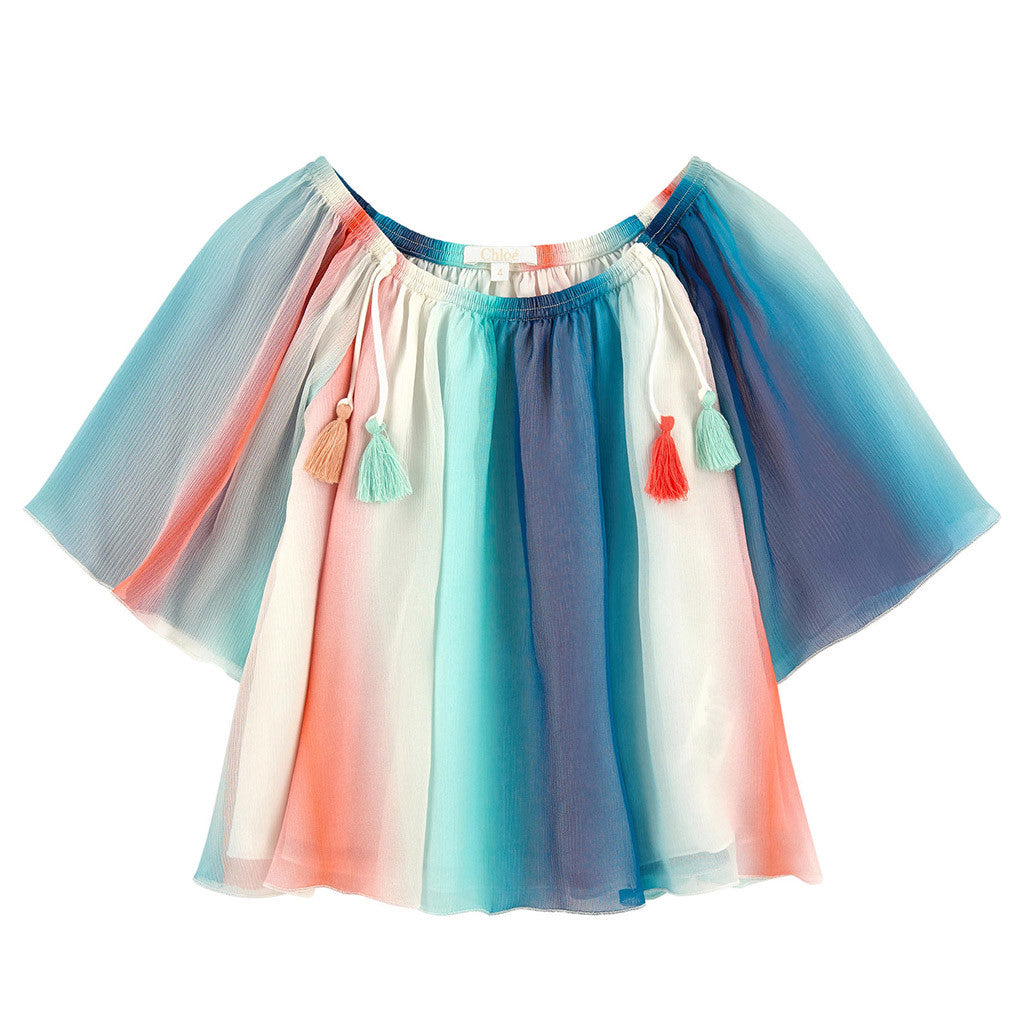 Mini Me Rainbow Striped Blouse