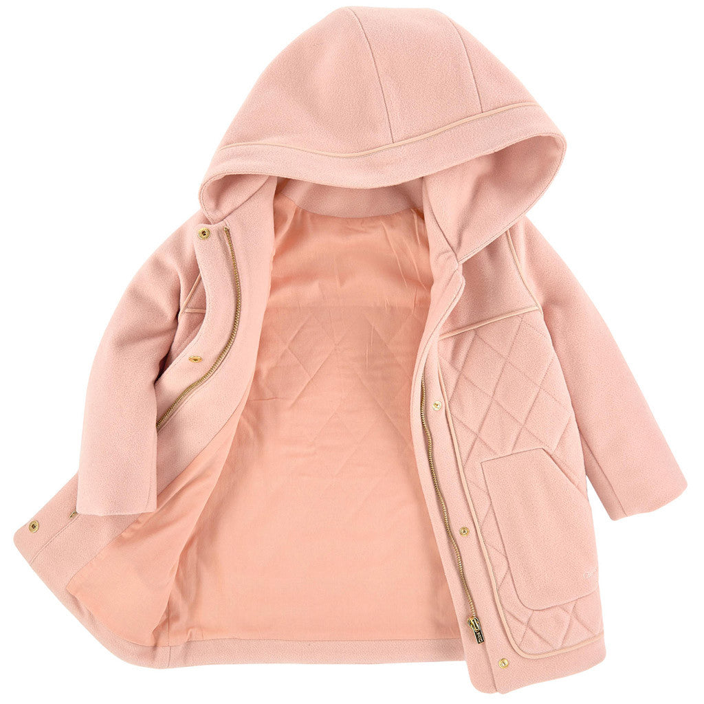 Mini Me Wool Hooded Coat