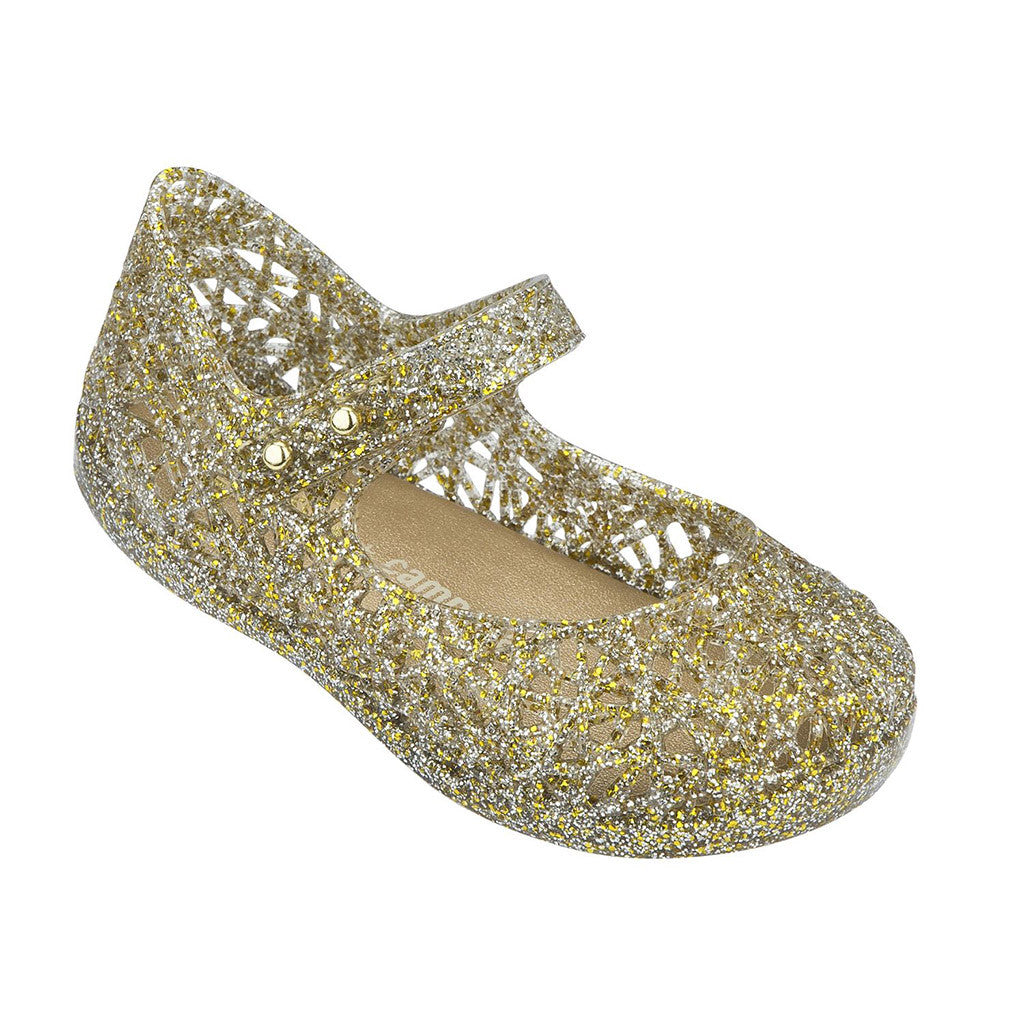 Mini Melissa Campana Zig Zag Mixed Gold Glitter