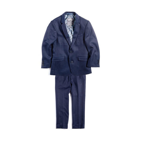 Short Suit Set Navy Seersucker