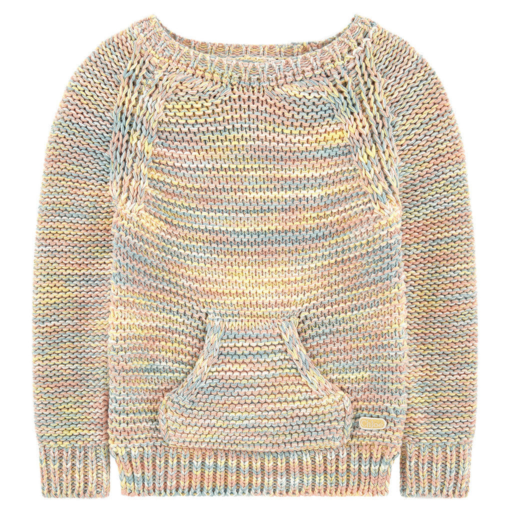 c3aa23cfd417 Multicolor Chunky Knit Sweater – Occasion Kids