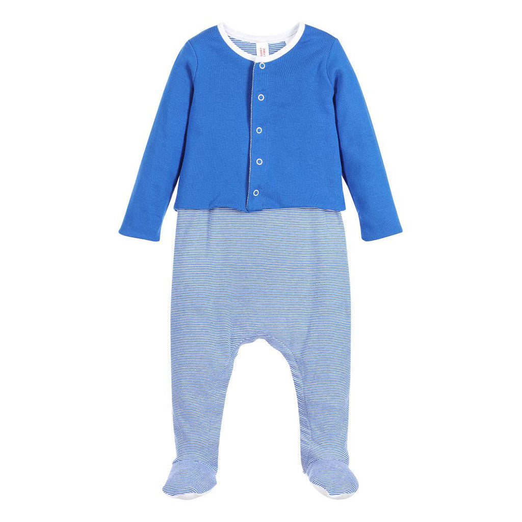 Blue Footie with Jacket