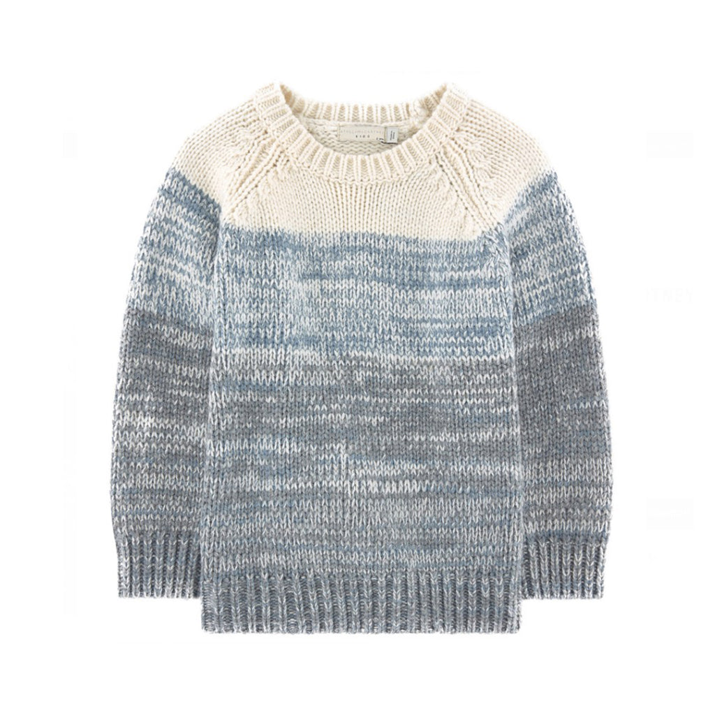 Blue Ombre Knit Sweater