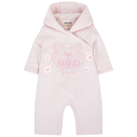 Baby Blue Tiger Print Long Sleeve Onesie