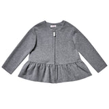 Peplum Zipped Sweat Top